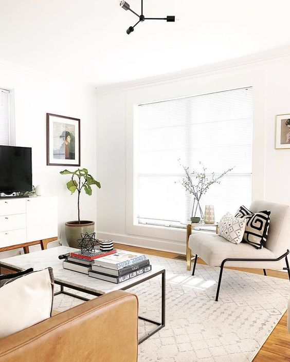 Cascio Cream Linen Area Rug Living Room Design Modern Mid Century Modern Living Room Minimalist Living Room