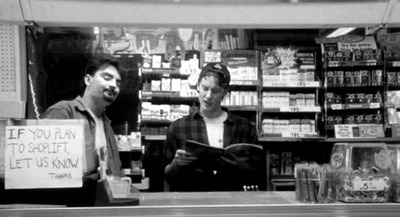 """""""Everybody that comes in here is way too uptight. This job would be great if it wasn't for the f***ing customers."""" - #JeffAnderson #Clerks Click for audio."""