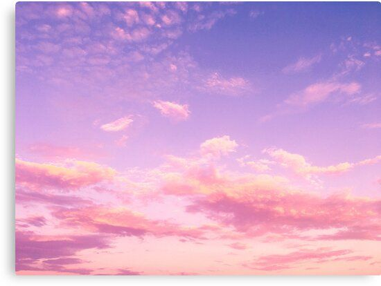 Beautiful Lavender Pink Clouds Canvas Print By Newburyboutique In 2020 Pastel Pink Aesthetic Pink Clouds Pink Aesthetic