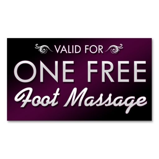 e Free Foot Massage Business Card Templates Make your
