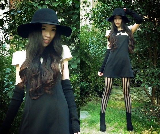 D.I.Y. Sleeves, Asos Dress, Topshop Striped Tights