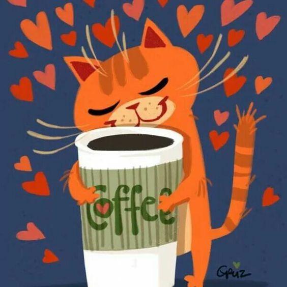 """""""Chat""""  sent bon le café  !!!!"""