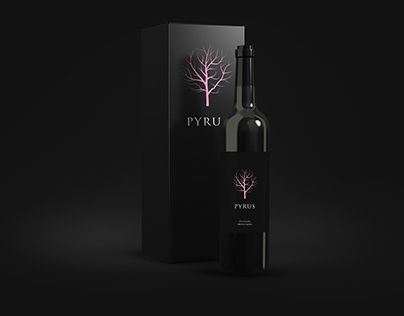 Pyrus wine label