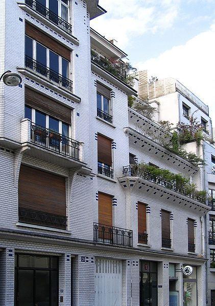 Immeuble à gradins( 1912-1913), architecte Henri Sauvage, 26 rue Vavin, Paris VI.
