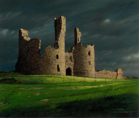 Abandoned Buildings Newcastle Uk: Oil Pastel Paintings Of Castles