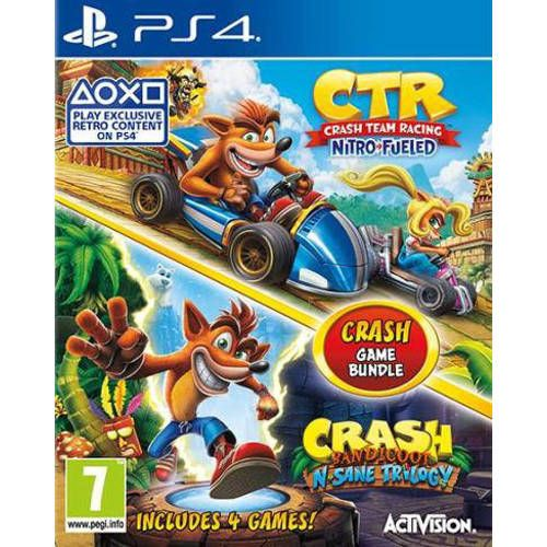 Bundle Crash Team Racing Crash Bandicoot Nsane Trilogy Playstation 4 Crash Bandicoot Playstation