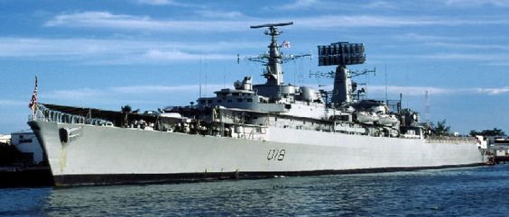 HMS Antrim ~ County Class cruiser. First ship I served on 1975: