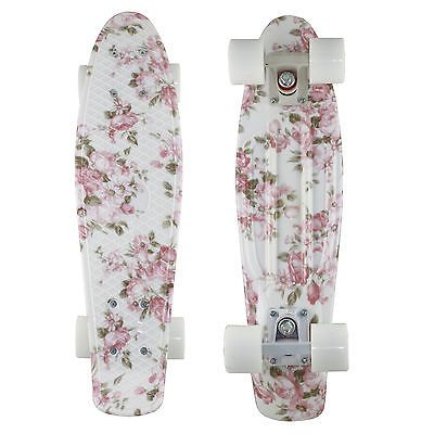 2014 Penny Style Skateboards Complete 22 inch Flower Floral Board White Wheels | eBay
