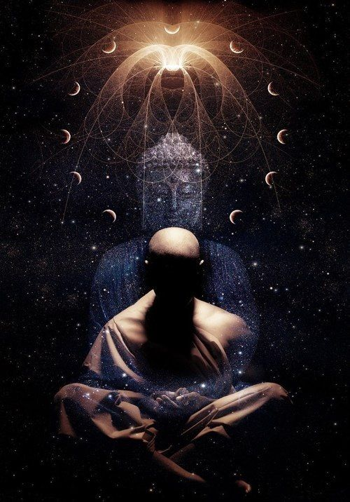Monk Connecting to Higher self meditation | Spirituality ...