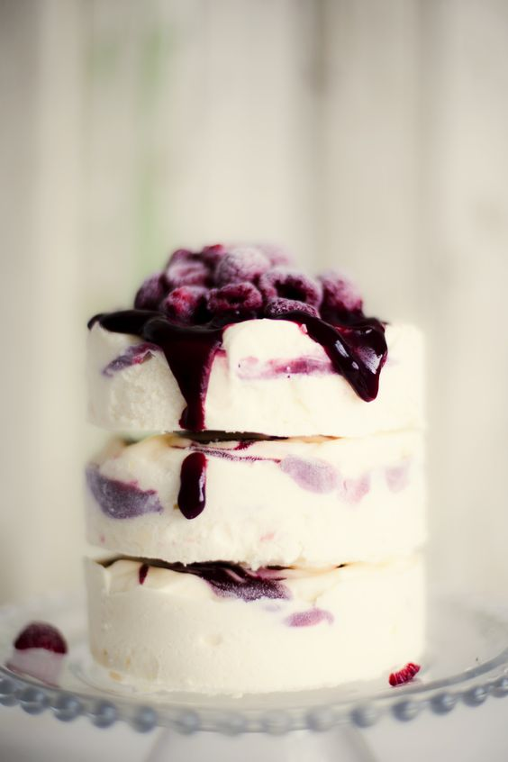 Lemon Ice Cream Cake with Raspberry Ripple (translator)