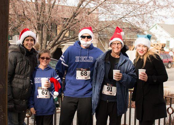 Santa Hat Dash SLC & NYC #flashdashseries #holidayruns #running #funruns #christmas #santaruns