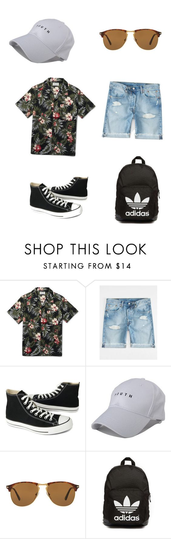 """For men"" by theavalseth ❤ liked on Polyvore featuring Levi's, Converse, Persol, adidas Originals, men's fashion and menswear"