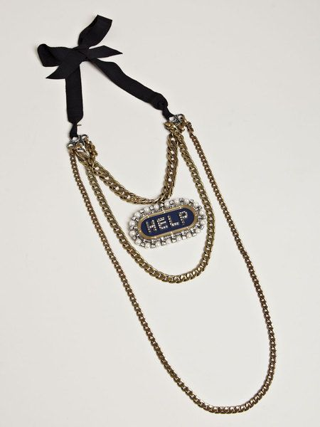 LANVIN Gold Show Piece Collier Necklace - Lyst