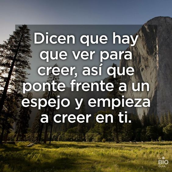 Cree en ti!!!