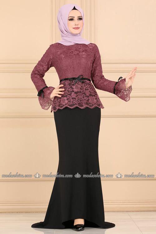 Modaselvim Abiye Dantelli Balik Abiye 5169ay342 Gul Kurusu Stylish Clothes For Women Muslim Fashion Dress Muslim Fashion