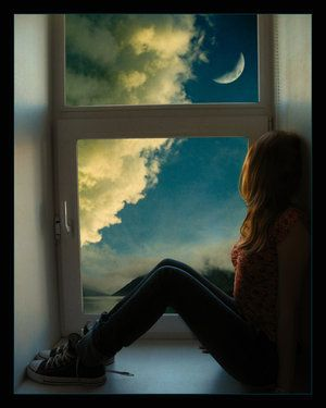 """I never understood why she was so obsessed with the sky. """"Look at the clouds,"""" she would say. """"Wouldn't you love to be able to live up there?"""" Now I do. The sky is beautiful, and the sky is free. The sky is everything she's ever wanted to be.:"""