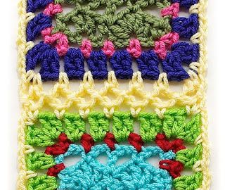 Great page!  Crochet squares, joins, and borders.