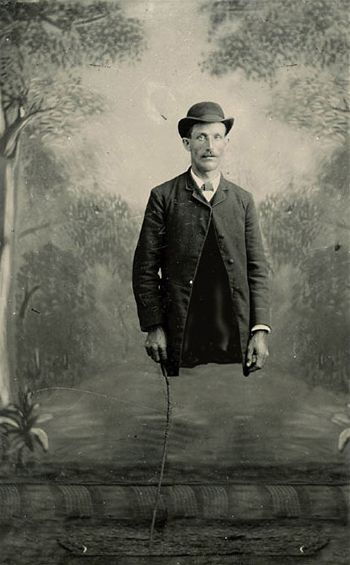 Lester forgot his pants.       Victorian Surrealism