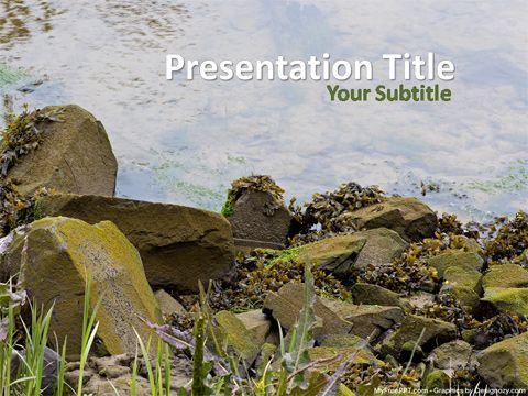Free Rock Stones Powerpoint Template Templates Sunrise