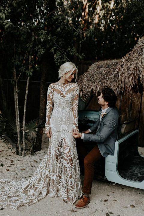25 Edgy Statement Earrings Ideas For Brides In 2020 Kleider Hochzeit Brautkleid Spitze Brautkleid Meerjungfrau