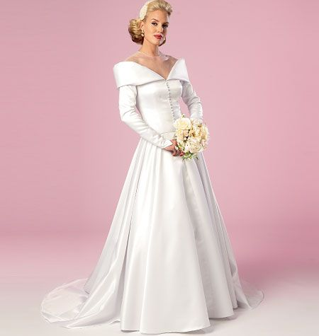 The new 1950s wedding dress pattern b6022 misses for Butterick wedding dress patterns