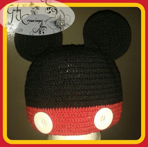 Hermoso gorro de mickey mouse