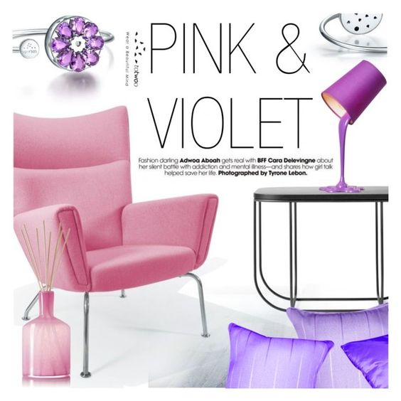 """Pink & Violet"" by totwoo ❤ liked on Polyvore featuring Rove Concepts, Menu and LAFCO"