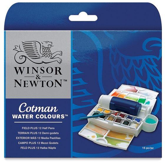 Winsor Newton Cotman Watercolor Set Field Plus Set Of 12 Half