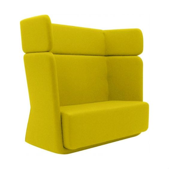 Softline Loungebank Basket Sofa hoge rug op Kantoorinrichting kopen   Bureaus, kasten, tafels en