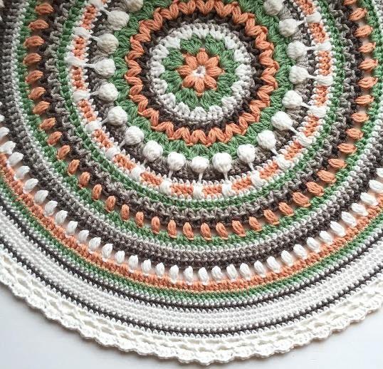Crochet Afghan Rugs Pattern Free : Free pattern, Crochet rugs and Crochet mandala pattern on ...