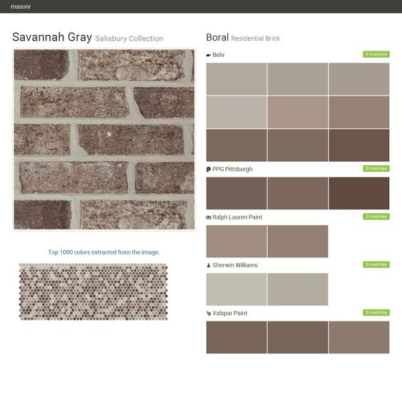 Savannah gray salisbury collection residential brick boral behr ppg paints ralph lauren - Breathable exterior masonry paint collection ...