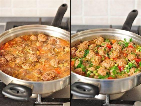 Обалденное овощное рагу с фрикадельками.
