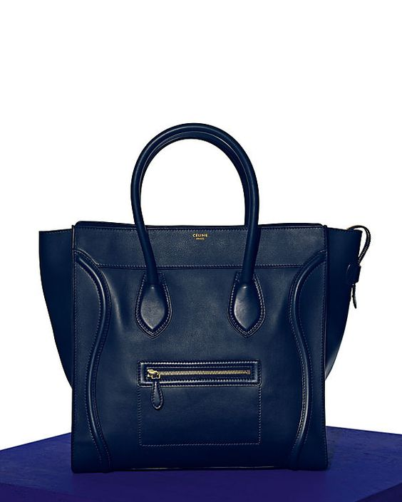 Celine ss2012 luggage in smooth calfskin navy.