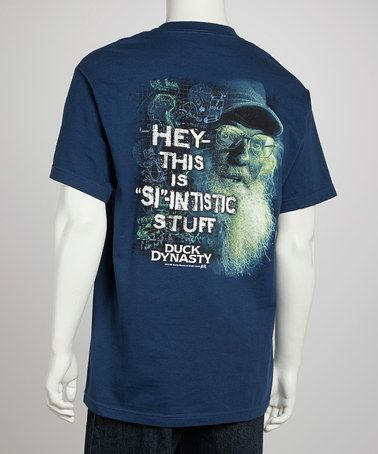 Take a look at this Light Harbor Blue 'Si-Intistic' Tee - Men by Club Red on #zulily today!