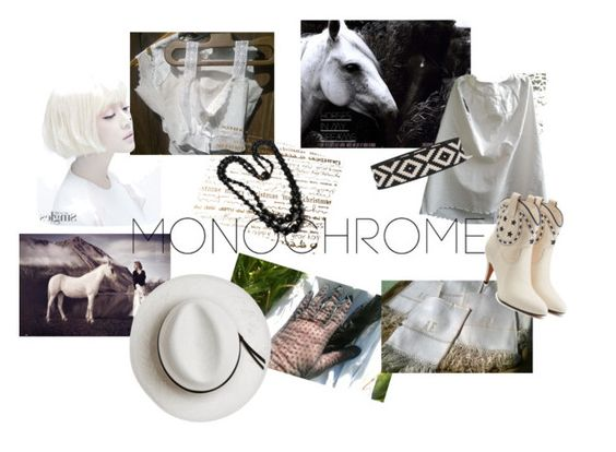 """""""NATURAL MONOCHROME"""" by sophieladydeparis ❤ liked on Polyvore featuring Marc Jacobs, Vanessa Seward, Calypso Private Label and monochrome"""