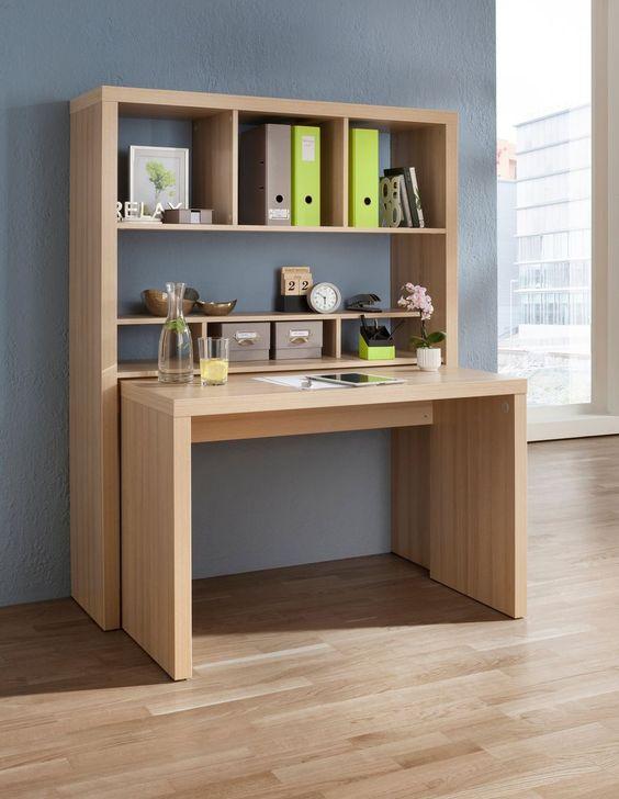 Bürowand, HMW, »Danzig«, mit ausziehbarem Schreibtisch   QUELLE Onlineshop