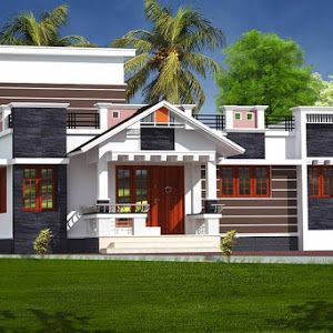 Beutiful 2 Bedroom Modern Home In 1321 Sqft With Free Plan With Images Kerala House Design Bungalow Style House Porch House Plans