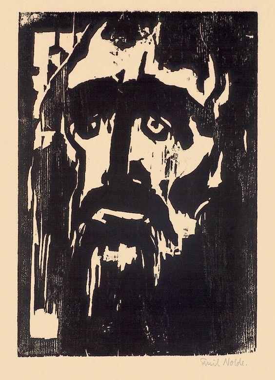 Emil Nolde | PROPHET Woodcut. 1912.: