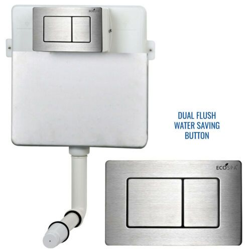 Details About Concealed Wc Toilet Cistern Front Access Stainless Steel Eco Dual Flush Button With Images Toilet Cistern Cistern Concealed Cistern
