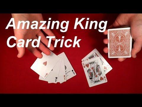 Amazing King Card Trick Tutorial Card Tricks Easy Card Tricks King Card