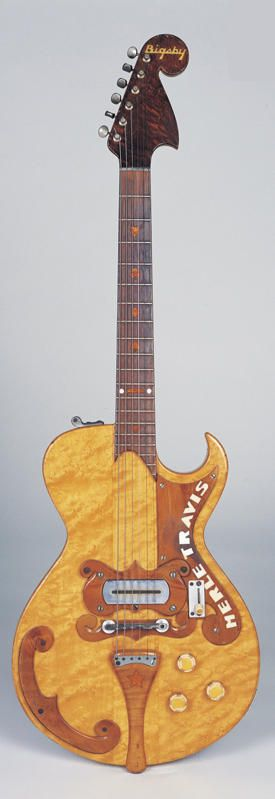 The Merle Travis guitar made by Paul Bigsby, probably the first true solidbody electric guitar