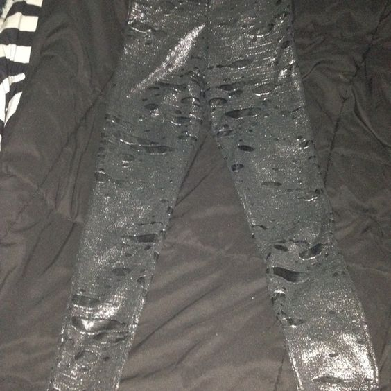 Dolls Kill Our Prince of Peace Legging Our Prince of Peace leggings in XS sold out on dolls kill. Never worn. Awesome rocker style similar to UNIF. Tagged UNIF for exposure. UNIF Pants Leggings
