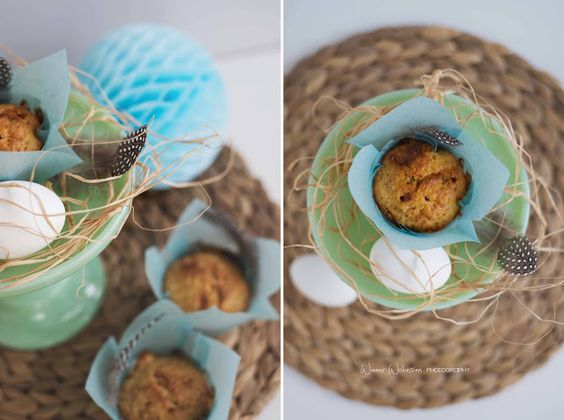 easter brunch ideas : carrot almond chocolate muffins