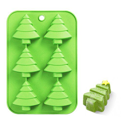 Efivs Arts 6 Christmas Tree Silicone Cake Baking Mold Cake Pan Handmade Soap Moulds Biscuit Chocolate Ice Cube Tray Diy Mold 10 Handmade Soap Molds Christmas Tree Art Diy Molding