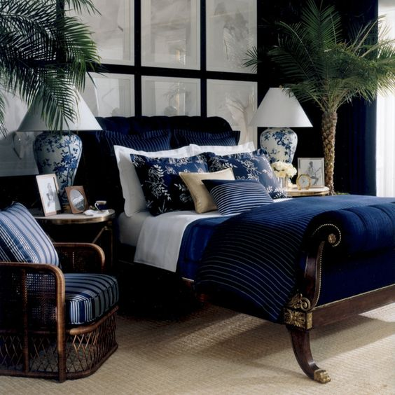 Ralph Lauren Home. I think my husband would die if I did a room like this: