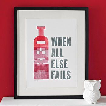 ... Have a bottle of wine
