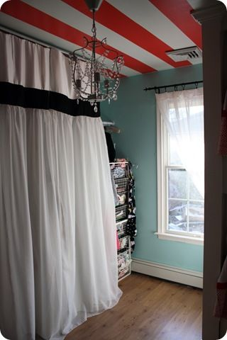 Drapes to cover storage or furnaces!