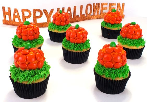 These Pumpkin Patch Cupcakes are super adorable Halloween cupcakes and very easy to make. They are a great Halloween dessert for a neighborhood party or a fun classroom Halloween treat. Follow us for more fun Halloween Food Ideas.