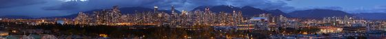 Vancouver, BC Panorama
