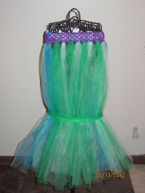 The Little Mermaid Tail Tutu Costume Medium. $30.00, via Etsy.